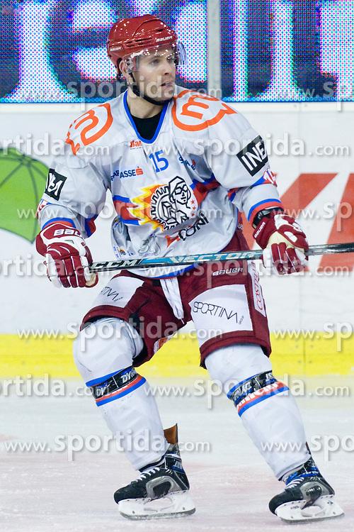 Mickal Bayrack (HK Acroni Jesenice, #15) during ice-hockey match between HDD Tilia Olimpija and HK Acroni Jesenice in 41st Round of EBEL league, on Januar 23, 2011 at Hala Tivoli, Ljubljana, Slovenia. (Photo By Matic Klansek Velej / Sportida.com)