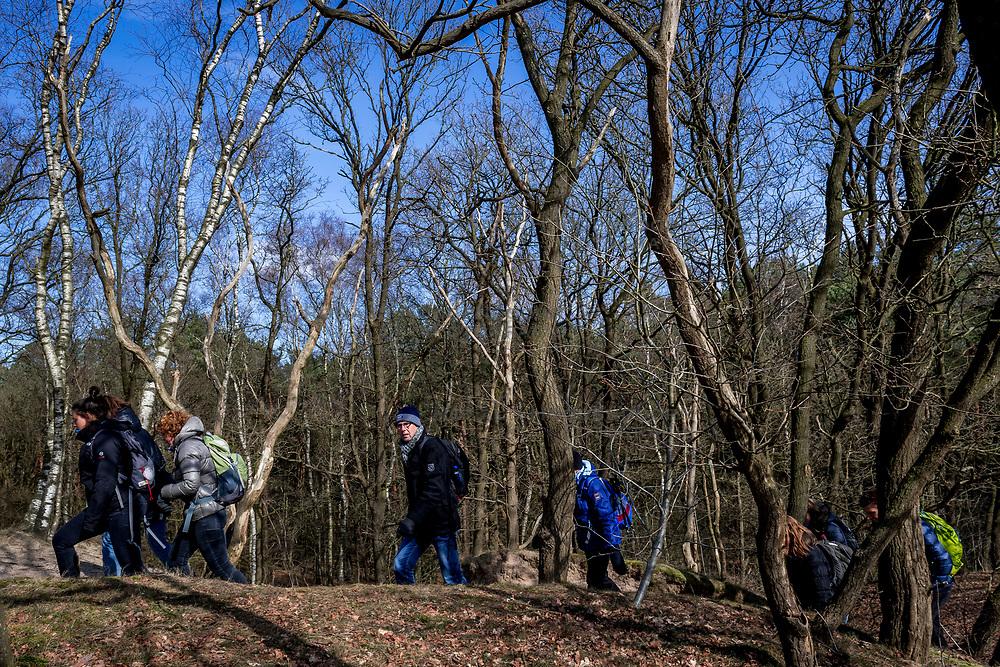 18-03-2018 NED: We hike to change diabetes, Soest<br /> Training voor de Camino 2018 op de Soesterduinen / track hiking lopen