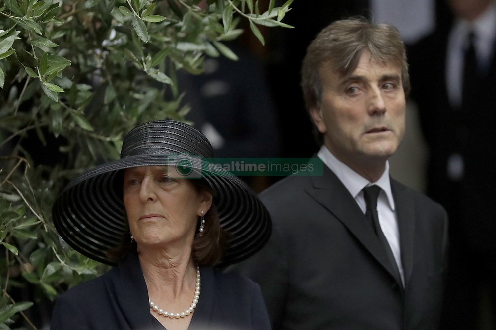 Mourners leave the funeral of Countess Mountbatten of Burma at St Paul's Church, Knightsbridge, London.