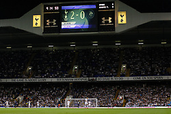 29.08.2013, White Hart Lane, London, ENG, UEFA CL Qualifikation, Tottenham Hotspur vs FC Dinamo Tiflis, Rueckspiel, im Bild A general view of play during the UEFA Europa League Qualifier second leg match between Tottenham Hotspur and FC Dinamo Tiflis Zuerich at the White Hart Lane in London, England on 2013/08/29 . EXPA Pictures © 2013, PhotoCredit: EXPA/ Mitchell Gunn <br /> <br /> ***** ATTENTION - OUT OF GBR *****