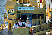The Officers on the bridge deck of the AAL Melbourne