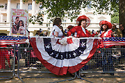 24 hours before the royal marriage of Prince William and Kate Middleton, American royalists from Baton Rouge, Louisiana have claimed a front row position on the procession route in the Mall. Taking place on Friday 30th April in front of millions of Britons and foreign tourists (many American), the crowds are already gathering to claim their ideal locations in the front rows along the procession route.