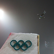 Winter Olympics, Vancouver, 2010.Lydia Lassila, Australia, in practice before winning  Gold during the Freestyle Skiing Ladies' Aerials Final  at Cypress Mountain, during the Vancouver Winter Olympics. 24th February 2010. Photo Tim Clayton