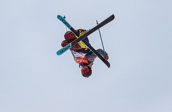 21.02.2018, Phoenix Snow Park, Bokwang, KOR, PyeongChang 2018, Freestyle Ski, Herren, Halfpipe, Training, im Bild David Wise (USA) // David Wise of the USA during a Freestyle Skiing training session for the Men's Halfpipe competition of Pyeongchang 2018 Winter Olympic Games at the Phoenix Snow Park in Bokwang, South Korea on 2018/02/21. EXPA Pictures © 2018, PhotoCredit: EXPA/ Johann Groder