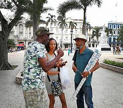 Old Havana, Cuba. Havana vieja, street. Park central