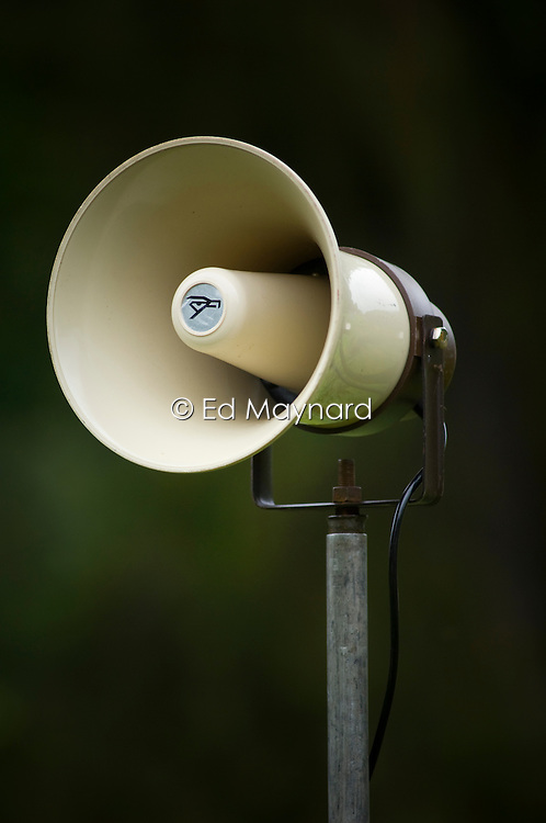 Loudspeaker, horn, megaphone, England, UK.