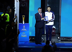 September 30, 2018 - Turin, Italy - Poland v Brazil - FIVP Men's World Championship Final.Micah Christenson of Usa receives the award as best setter of the championship at Pala Alpitour in Turin, Italy on September 30, 2018. (Credit Image: © Matteo Ciambelli/NurPhoto/ZUMA Press)