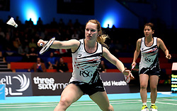 Jess Hopton of Bristol Jets plays a drop shot - Photo mandatory by-line: Robbie Stephenson/JMP - 07/11/2016 - BADMINTON - University of Derby - Derby, England - Team Derby v Bristol Jets - AJ Bell National Badminton League