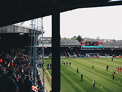 Luton Town fans at the ground before the game, after their side secured automatic promotion from Sky Bet League 1 to the Sky Bet Championship the previous week - Rogan/JMP - 04/05/2019 - Kenilworth Road - Luton, England - Luton Town v Oxford United - Sky Bet League One.