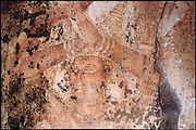 Image from the wall of the Thivanka Image House at the ruined city of Polonnaruwa. Polonnaruwa is part of the Cultural Traingle of the country.