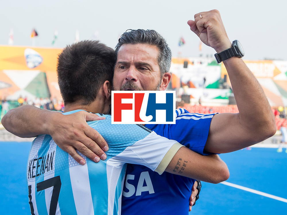 LUCKNOW (India) -   Junior World Cup hockey  U21 for men . ARGENTINA v SPAIN (2-11) . (5th/6th place).  coach Mariano Ronconi (Arg)      COPYRIGHT  KOEN SUYK
