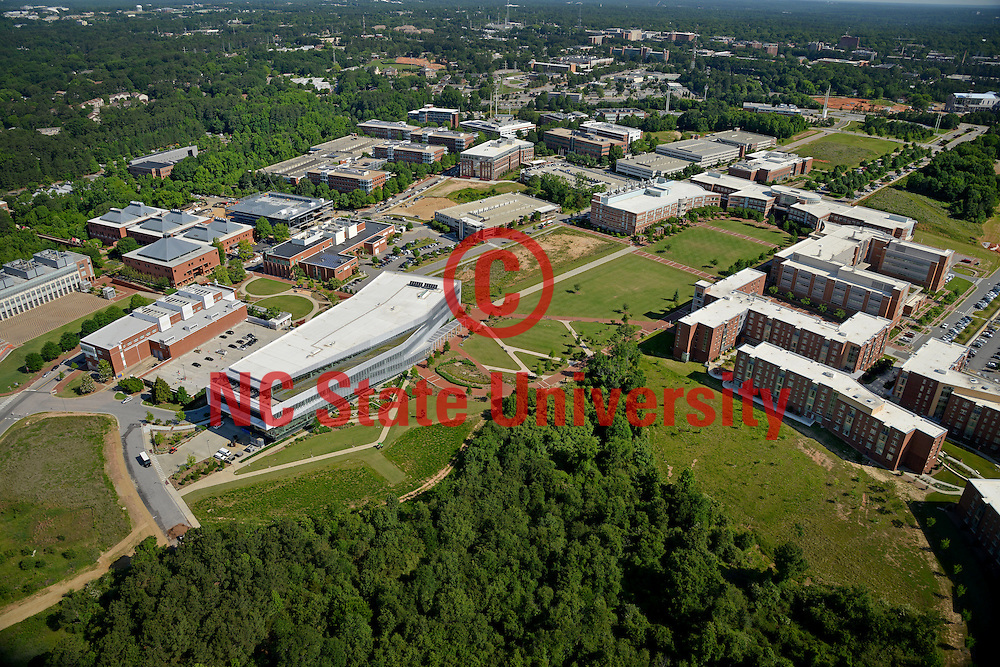 Aerial of Centennial Campus looking northwest.