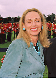 MRS ALFRED TAUBAMN wife of the owner of Sotheby's, at a polo match in Berkshire on 14th June 1998.MII 69 wo