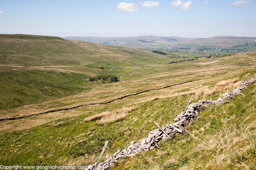 Moorland countryside in Sleddale valley, Yorkshire Dales national park, England, UK