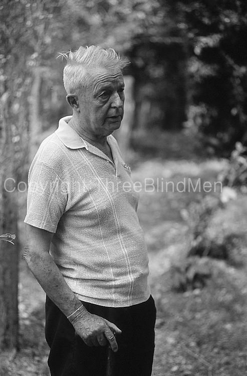 Sam Popham at his arboretum in Dambulla.