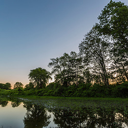 Dawn on an oxbow in the Taunton River at a Wildlands Trust preserve in Raynham, Massachusetts.