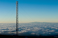 Meteorological sampling tower, Mauna Loa Observatory, Hilo, Hawaii.