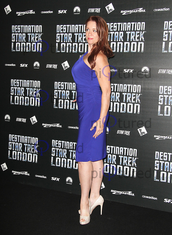 LONDON - OCTOBER 19: Chase Masterson attended 'Destination Star Trek London' at the ExCel Centre London, UK, October 19, 2012. (Photo by Richard Goldschmidt)
