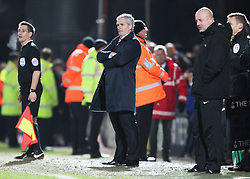Stoke City Manager Mark Hughes and Rochdale Manager Keith Hill l - Photo mandatory by-line: Matt McNulty/JMP - Mobile: 07966 386802 - 26/01/2015 - SPORT - Football - Rochdale - Spotland Stadium - Rochdale v Stoke City - FA Cup Fourth Round