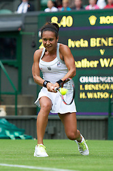 LONDON, ENGLAND - Monday, June 25, 2012: Heather Watson (GBR) during the Ladies' Singles 1st Round on the opening day of the Wimbledon Lawn Tennis Championships at the All England Lawn Tennis and Croquet Club. (Pic by David Rawcliffe/Propaganda)