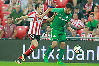 Athletic Club de Bilbao's Inigo Lekue (l) and Panathinaikos FC's Andres Eliseo Chavez during Europa League Play-off, 2nd leg. August 24,2017. (ALTERPHOTOS/Acero)