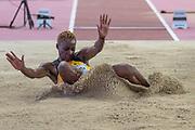 Tissana Hickling (Jamaica), Long Jump Women Qualification - Group B, during the 2019 IAAF World Athletics Championships at Khalifa International Stadium, Doha, Qatar on 5 October 2019.
