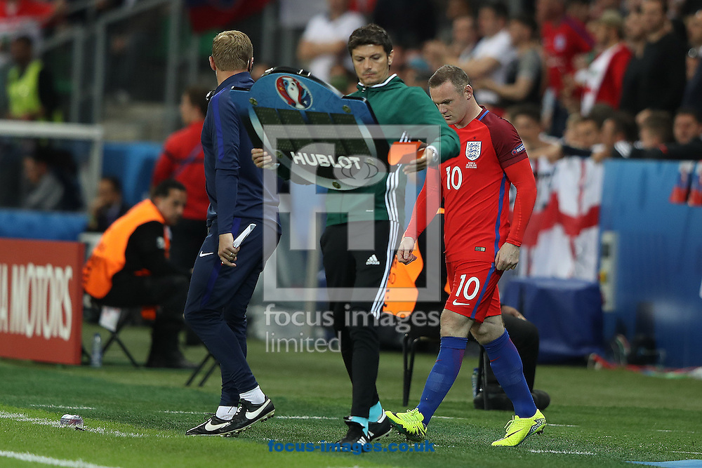 Wayne Rooney of England comes on as a second half substitute during the UEFA Euro 2016 match at Stade Geoffroy-Guichard, Saint-Etienne<br /> Picture by Paul Chesterton/Focus Images Ltd +44 7904 640267<br /> 13/06/2016