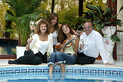 16 year old Nicola Benedetti wins the BBC Young Musician of the Year in 2004. Pictured with her sister Stephannie, mum Francesca, dad Gio at home in West Kilbride, 3/05/2004..Pic ©2010 Michael Schofield. All Rights Reserved..