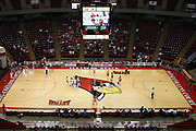 25 AUG 2007: Doug Collins Court, the center of Redbird Arena dressed for volleyball. By a score of 3 games to 1,  Illinois State University Redbirds defeated the Redhawks of Miami of Ohio at Redbird Arena on the campus of Illinois State University in Normal Illinois.