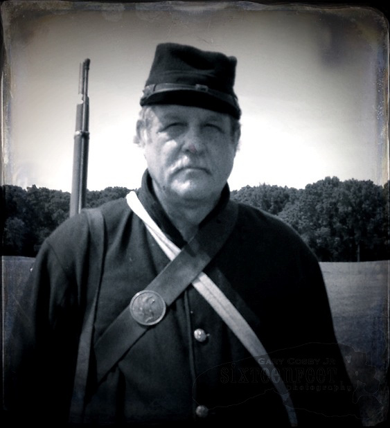 Gary Cosby Jr.  iPhone photographs  Civil War reenactors at the Battle For Decatur.