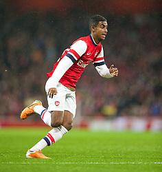 LONDON, ENGLAND - Friday, January 24, 2014: Arsenal's Gedion Zelalem makes his debut during the FA Cup 4th Round match against Coventry City at the Emirates Stadium. (Pic by David Rawcliffe/Propaganda)