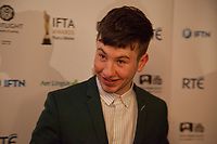 Barry Keoghan, awarded Best Supporting Actor for the film The Killing of a Sacred Deer at the IFTA Film & Drama Awards (The Irish Film & Television Academy) at the Mansion House in Dublin, Ireland, Thursday 15th February 2018. Photographer: Doreen Kennedy