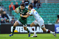 Tommy Bell of Leicester Tigers - Photo mandatory by-line: Patrick Khachfe/JMP - Mobile: 07966 386802 09/11/2014 - SPORT - RUGBY UNION - Leicester - Welford Road - Leicester Tigers v Sale Sharks - LV= Cup