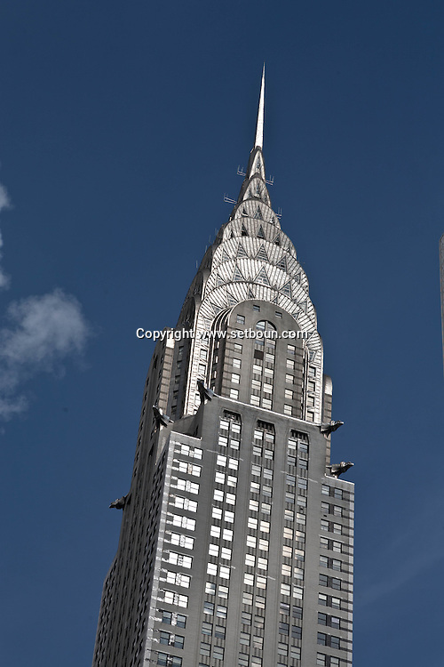 New York. Chrysler Building in midtown  Manhattan - United states / le Chrysler Building dans midtown   Manhattan