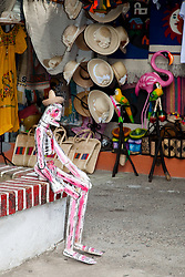 """""""Sitting Skeleton"""" - This sitting day of the dead style skeleton was photographed in Puerto Vallarta, Mexico."""