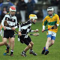 Ruairi Cremmins gains possession for Clarecastle U13's under pressure from Steven Conway Feakle/Killanena. Photograph by Flann Howard