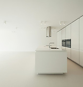 Architecture, new trend design, domestic kitchen of a modern house
