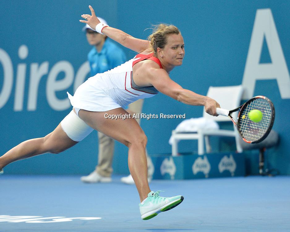 14.01.15 Sydney, Australia. Barbora Zahlavova Strycova (CZE) in action against Tsvetana Pironkova (BUL)  during her singles match at the Apia International Sydney.
