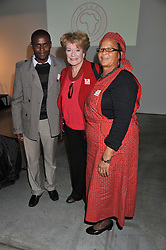 Left to right, XOLA YOYO, DAME JANET SUZMAN and ALICE KLASS at the ASAP (African Solutions to African Problems) Lunch held at the Louise T Blouin Foundation, 3 Olaf Street, London W11 on 15th May 2012.