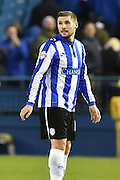 Gary Hooper of Sheffield Wednesday at end of match during the Sky Bet Championship match between Sheffield Wednesday and Wolverhampton Wanderers at Hillsborough, Sheffield, England on 20 December 2015. Photo by Ian Lyall.