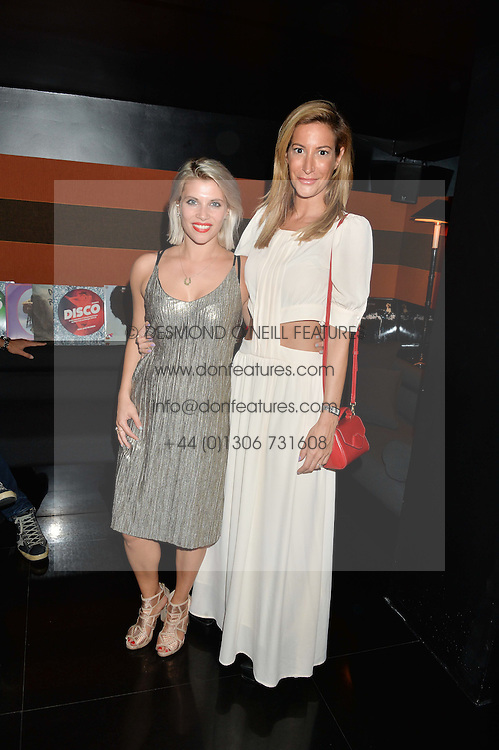 Left to right, PIPS TAYLOR and LAURA PRADELSKA at the launch of Blakes Below at Blakes Hotel, 33 Roland gardens, London SW7 on 14th September 2016.
