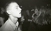 Man clubbing at The Boardwalk, Manchester, October 1991.