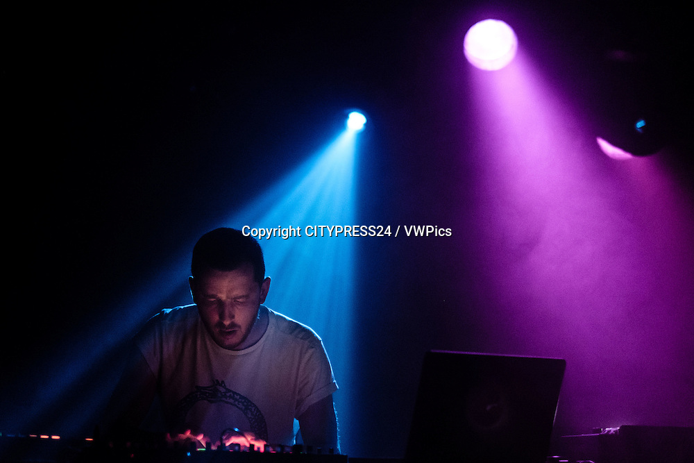 The British DJ, electronic musician and record producer Throwing Snow performs a live show at Pumpehuset in Copenhagen. Denmark, 22/06 2014.