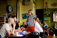 SWEDEN- STOKHOLM - 26/09/2006 : String restaurant in Sofo the new trendy , for young and artists  .///.String restaurant dans le quartier de SOFO, nouveau quartier mode et artistes