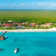 Aerial photo of Zoetry Paraiso de la Bonita. Riviera Cancun.