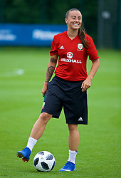 NEWPORT, WALES - Tuesday, June 5, 2018: Wales' Natasha Harding during a training session at Dragon Park ahead of the FIFA Women's World Cup 2019 Qualifying Round Group 1 match against Bosnia and Herzegovina. (Pic by David Rawcliffe/Propaganda)