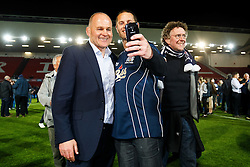 Bristol Rugby Director of Rugby Andy Robinson poses for a selfie after winning the Championship Final and promotion to the Aviva Premiership - Mandatory byline: Rogan Thomson/JMP - 25/05/2016 - RUGBY UNION - Ashton Gate Stadium - Bristol, England - Bristol Rugby v Doncaster Knights - Greene King IPA Championship Play Off FINAL 2nd Leg.