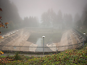 Empty Reservoir 1, Mount Tabor Park, Portland, Oregon, USA.
