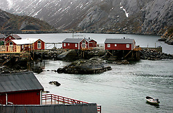 NORWAY LOFOTEN 29MAR07 - Traditional fishermen's cottages, rorbu, in Nusfjord on the Lofoten islands...jre/Photo by Jiri Rezac..© Jiri Rezac 2007..Contact: +44 (0) 7050 110 417.Mobile:  +44 (0) 7801 337 683.Office:  +44 (0) 20 8968 9635..Email:   jiri@jirirezac.com.Web:    www.jirirezac.com..© All images Jiri Rezac 2007 - All rights reserved.