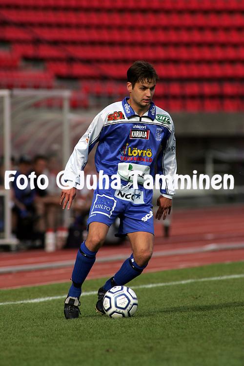 21.07.2004, Ratina, Tampere, Finland..Veikkausliiga 2004 / Finnish League 2004.Tampere United v FC Haka.Kari Sainio - TamU.©Juha Tamminen.....ARK:k
